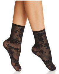 Natori - Scarlet Sheer Shortie Socks - Lyst