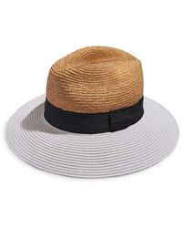 Aqua Raffia Crown Hat - Multicolour
