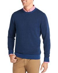 Vineyard Vines Striped Crewneck Jumper - Blue