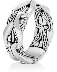 John Hardy - Sterling Silver Classic Chain Interlocking Link Ring - Lyst