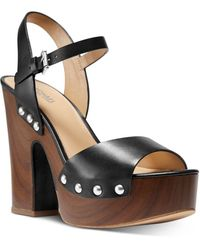 MICHAEL Michael Kors Women's Leonor Strappy Platform Pumps - Black