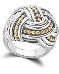Lagos - 18k Gold & Sterling Silver Torsade Large Round Ring - Lyst