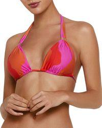ViX Artsy Triangle Bikini Top - Red