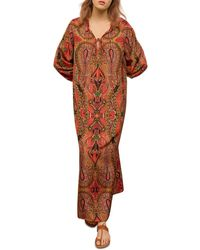 Gerard Darel Sahana Printed Maxi Dress - Brown