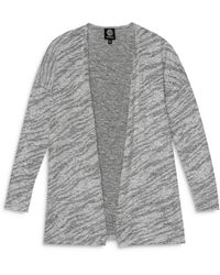 B Collection By Bobeau Open Front Cosy Cardigan - Grey