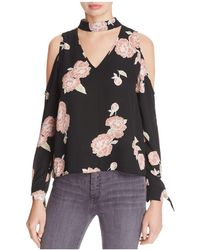 Cupcakes And Cashmere - Jon Cutout Cold-shoulder Top - Lyst