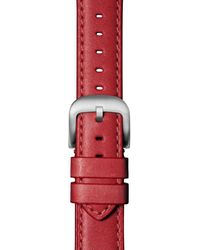 Shinola Montana Leather Strap For Apple Watch® - Red