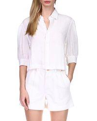 DL1961 Candice Puff Sleeve Shirt - White