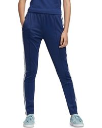 Sst Triple Stripe Track Pants Blue