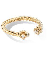 David Yurman Renaissance Ring In 18k Yellow Gold With Diamonds - Metallic