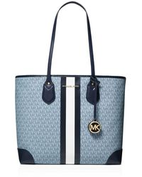 MICHAEL Michael Kors Eva Large Logo Stripe Tote Bag - Multicolor