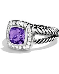David Yurman | Petite Albion Ring With Amethyst & Diamonds | Lyst
