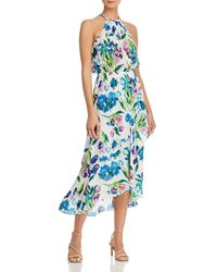 Parker Dottie Printed Halter Maxi Dress - Blue