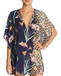 829cf37673219 Trina Turk - Fiji Floral Mix Caftan Swim Cover-up - Lyst