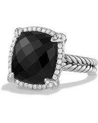 David Yurman - Chatelaine? Pave Bezel Ring With Gemstone And Diamonds - Lyst