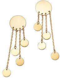 Moon & Meadow - Graduated Multi Disc Drop Earrings In 14k Yellow Gold - Lyst