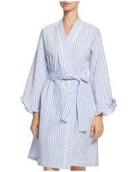 Eileen West - Striped Short Robe - Lyst