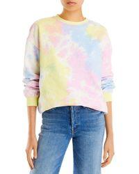 Aqua Tie Dyed Sweatshirt - Multicolour