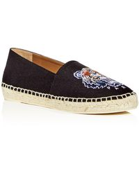 KENZO - Women's Special Tiger Embroidered Espadrille Flats - Lyst