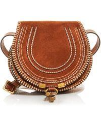 Chloé Marcie Small Leather Crossbody - Brown