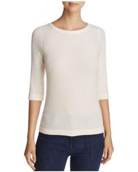 Three Dots - Brushed Boat Neck Top - Lyst