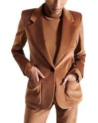 Barbara Bui Tailored Velvet Blazer - Brown