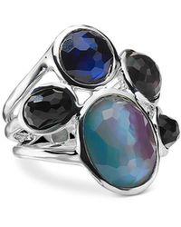Ippolita Sterling Silver Wonderland Multi Stone Doublet Cluster Ring In Astro - Blue