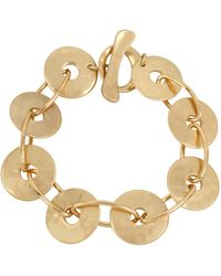 Robert Lee Morris - Gold Disc Link Bracelet - Lyst