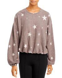 Aqua Star Print Sweatshirt - Multicolour