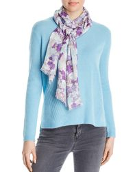Fraas - Watercolor - Floral Scarf - Lyst