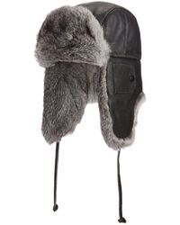 Crown Cap - Vintage Leather Fur Aviator Hat - Lyst