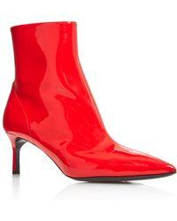 Via Spiga - Women's Baronne Pointed Toe Kitten Heel Booties - Lyst