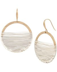 Robert Lee Morris - Two-tone Wire Wrap Circle Earrings - Lyst