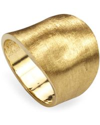 Marco Bicego - 18k Yellow Gold Engraved Lunaria Ring - Lyst