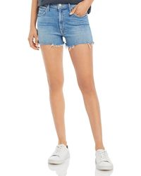 Mother The Dutchie Frayed Shorts In Independent Studies - Blue