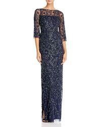 Aidan Mattox - Embellished Boatneck Gown - Lyst