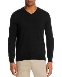 Bloomingdale's V - Neck Cotton - Cashmere Sweater - Black