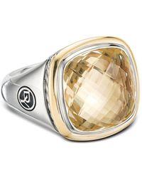 David Yurman Albion Ring With 18k Gold And Semiprecious Stone - Metallic