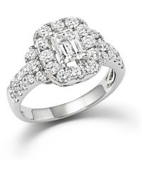 Bloomingdale's - Emerald Cut Diamond Engagement Ring In 18k White Gold - Lyst