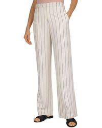 Gerard Darel Monia Pinstriped Trousers - White