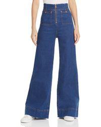 Alice McCALL Bluesy High Rise Wide Leg Jeans In Indigo