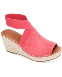Gentle Souls by Kenneth Cole Charli Ankle Strap Espadrille Wedge Sandals - Pink