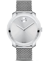 Movado - Bold Mid Size Silver Tone Watch - Lyst