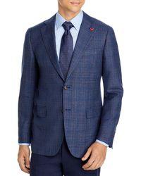 Cardinal Of Canada Plaid Regular Fit Sport Coat - Blue