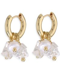 Luv Aj Rock Candy Huggie Hoop Earrings - Metallic
