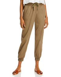 Aqua Woven Ankle Trousers - Brown