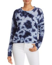 C By Bloomingdale's Tie - Dye Drop - Shoulder Cashmere Sweater - Blue