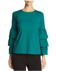 Lafayette 148 New York - Revina Tiered Ruffle Bell Sleeve Blouse - Lyst