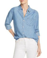 Rails Ingrid Raw - Edge Chambray Shirt - Blue