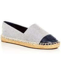 Tory Burch Leather-trimmed Espadrilles - Blue